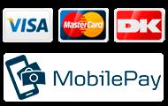 Betalingsløsninger VISADankort VISA og Mastercard og Mobilepay